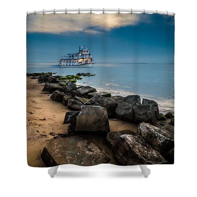 Landscape Shower Curtain featuring the photograph Party Cruise by Joseph Pellicone