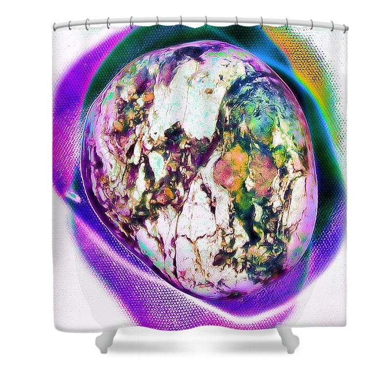 Pictolith Pictures In Stone Shower Curtain featuring the photograph Party Train Flamboyant by James Christiansen