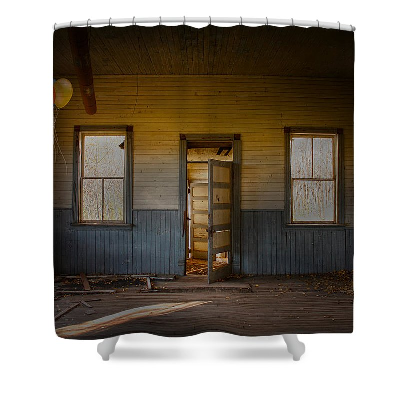 House Shower Curtain featuring the photograph Partys Over by The Artist Project