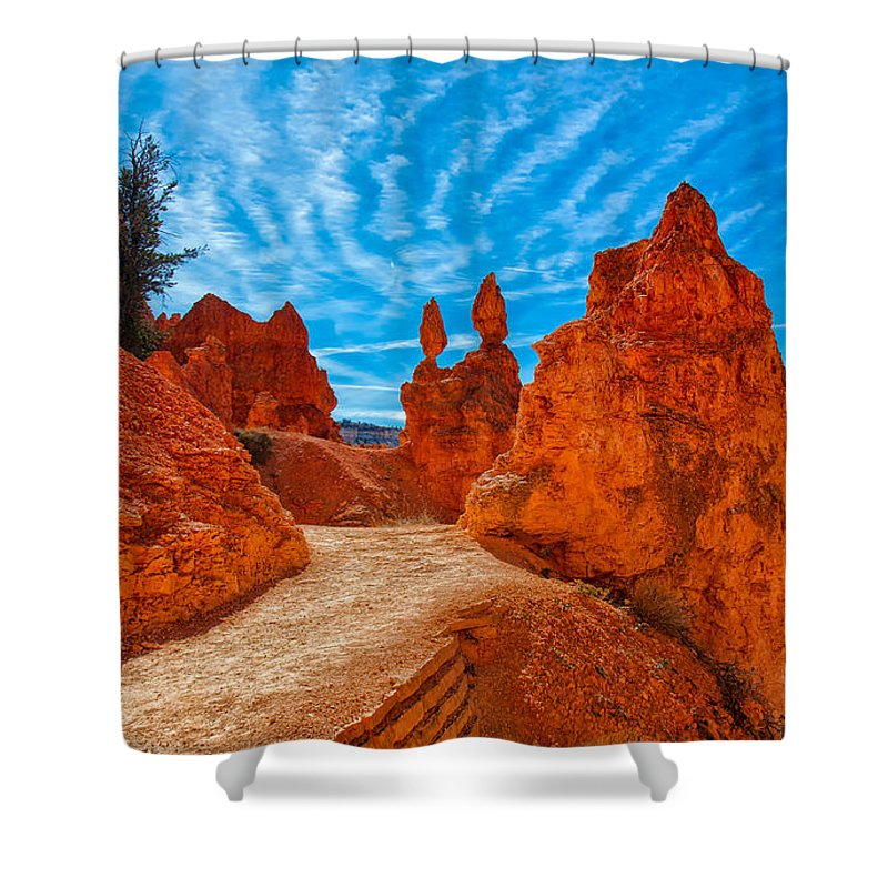 Landscape Shower Curtain featuring the photograph Passages by John M Bailey