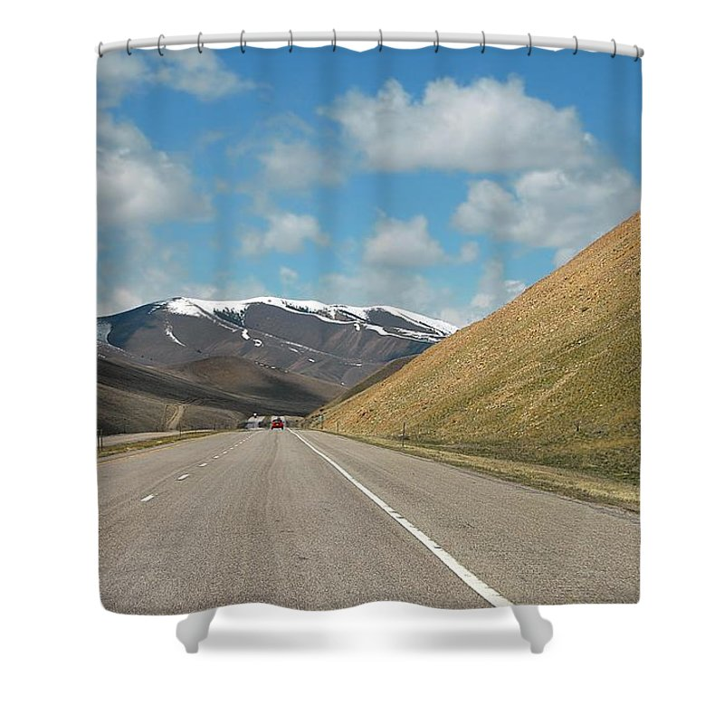 Montana Shower Curtain featuring the photograph Just Passin' Thru  by Dyle  Warren