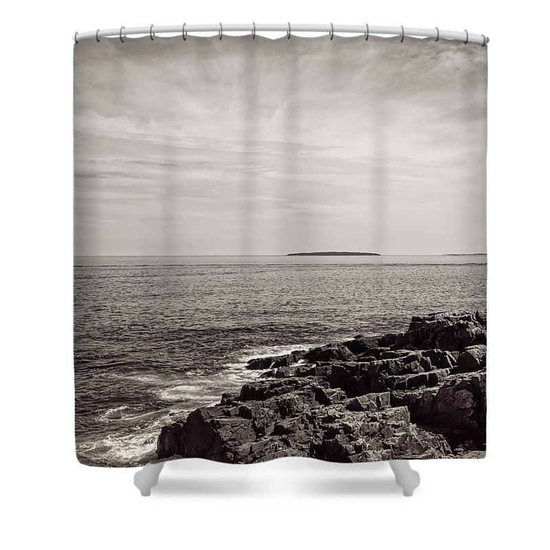 Landscape Shower Curtain featuring the photograph Passing By by John M Bailey