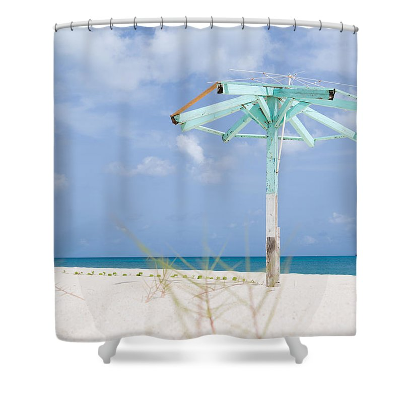 Sand Haven Shower Curtain featuring the photograph Pastel Beach Frame by Ferry Zievinger