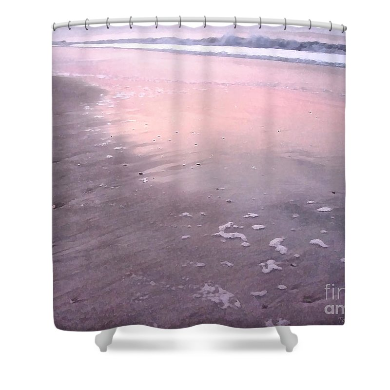 Landscape Shower Curtain featuring the photograph Pastel Beach by Todd A Blanchard