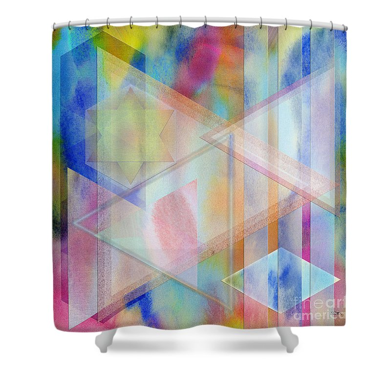 Pastoral Moment Shower Curtain featuring the digital art Pastoral Moment - Square Version by John Robert Beck