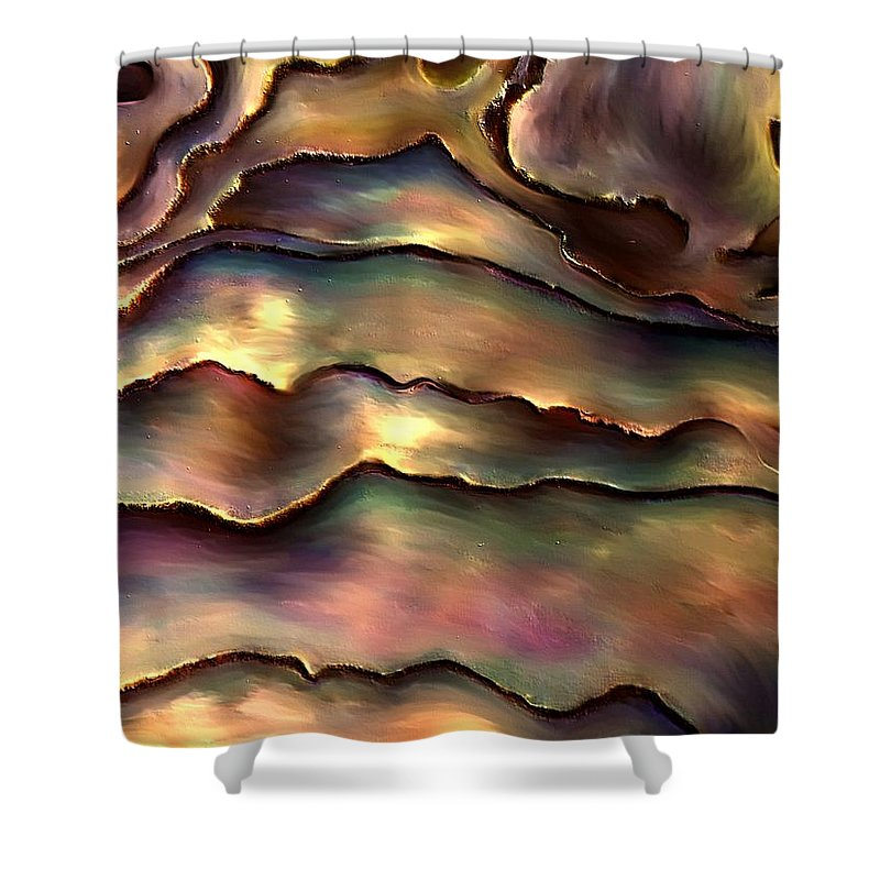 Contemporary Shower Curtain featuring the painting Patabat By Rafi Talby  by Rafi Talby