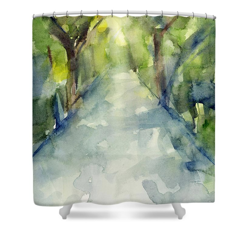 Abstract Landscape Shower Curtains
