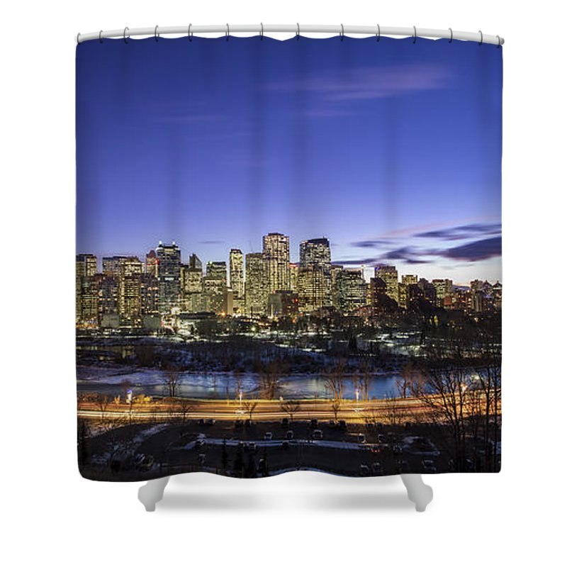 Calgary Shower Curtain featuring the photograph Path Of Glory by Evelina Kremsdorf