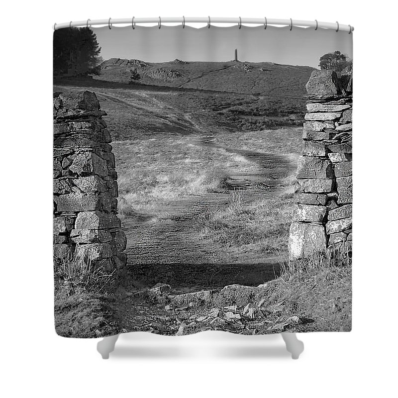 Landscape Shower Curtain featuring the photograph Path To The War Memorial by Linsey Williams