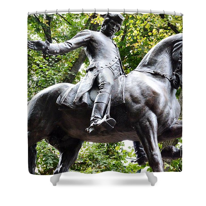 Boston Shower Curtain featuring the photograph Paul Revere's Ride 2 by Lisa Kilby