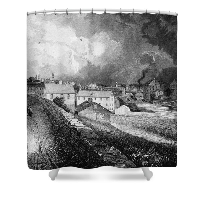 19th Century Shower Curtain featuring the painting Pawtucket, Rhode Island by Granger