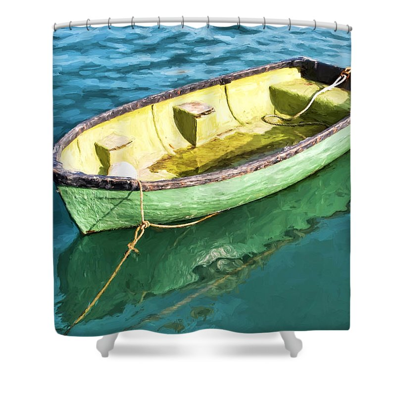 Row-boat Shower Curtain featuring the photograph Pea-green Boat - Impressions by Susie Peek