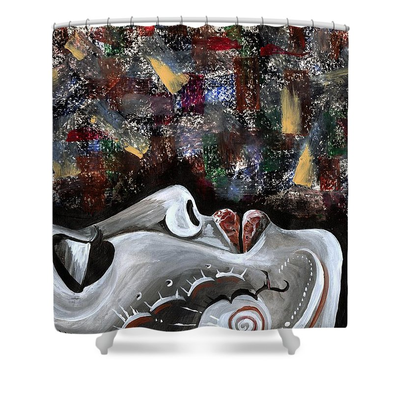 Art Shower Curtain featuring the photograph Peace Amidst Turmoil by Artist RiA