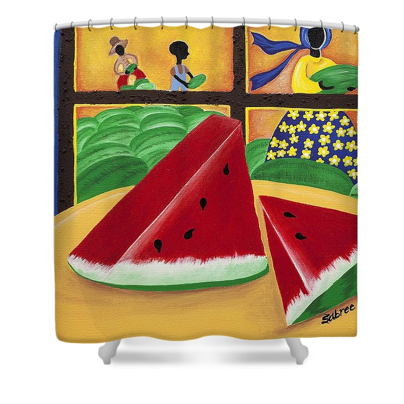 Sabree Shower Curtain featuring the painting Peace by Patricia Sabree