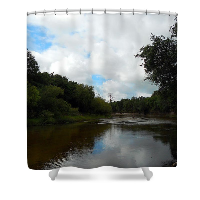 River Shower Curtain featuring the photograph Peace River 3 by Nancy L Marshall