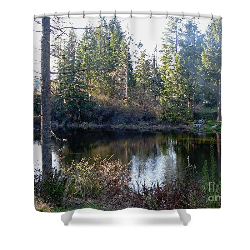 Pond Shower Curtain featuring the photograph Peaceful Pond by Rory Sagner