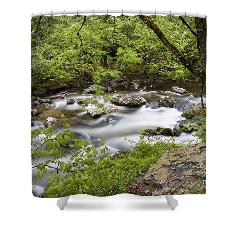 Stream Shower Curtain featuring the photograph Peacful Places 2 by Shari Jardina