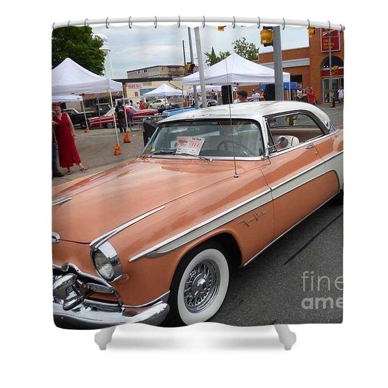 Car Shower Curtain featuring the photograph Peach Classic by Lingfai Leung