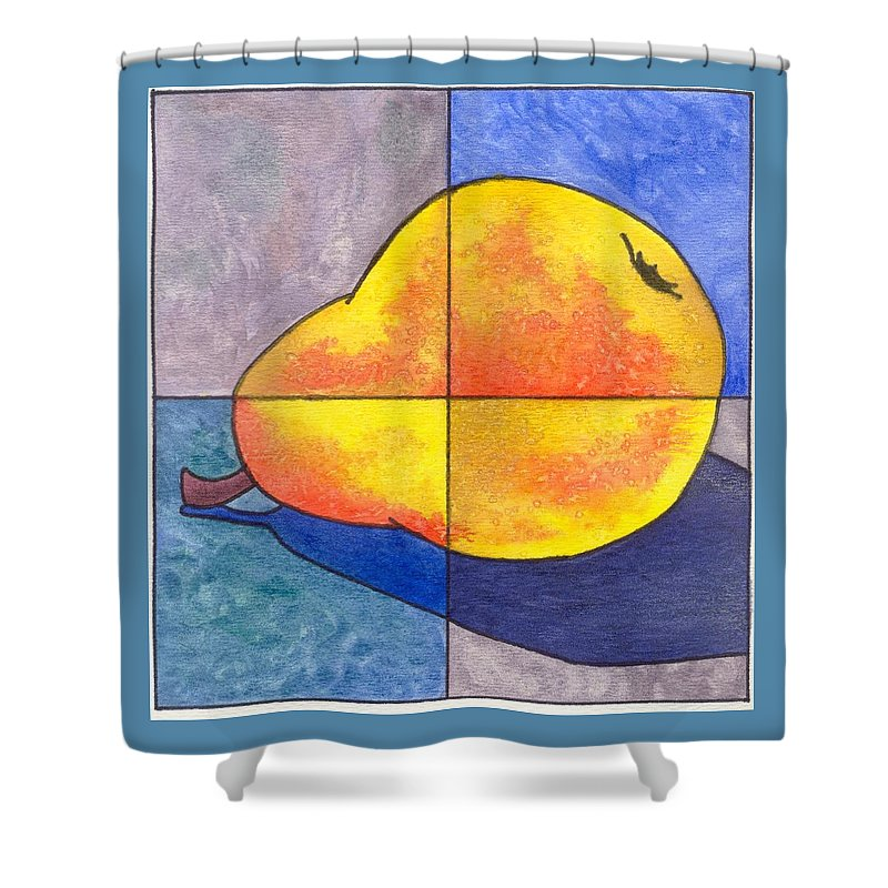 Pear Shower Curtain featuring the painting Pear I by Micah Guenther