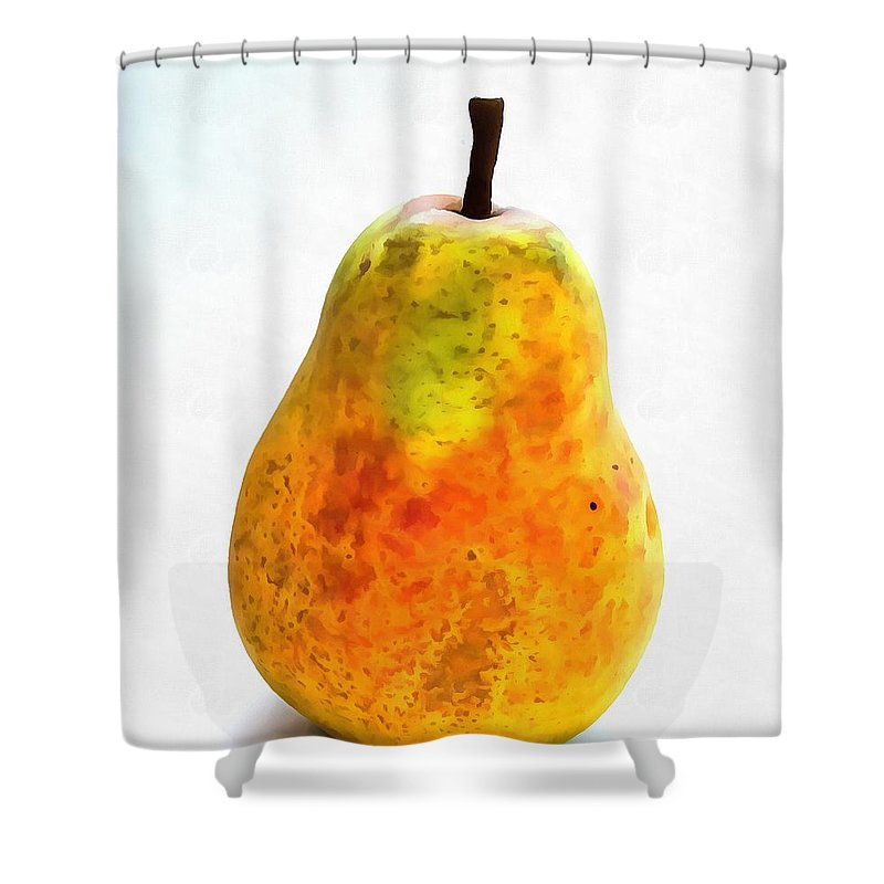 Pear Still Life Shower Curtain featuring the painting Pear Still Life by Dan Sproul