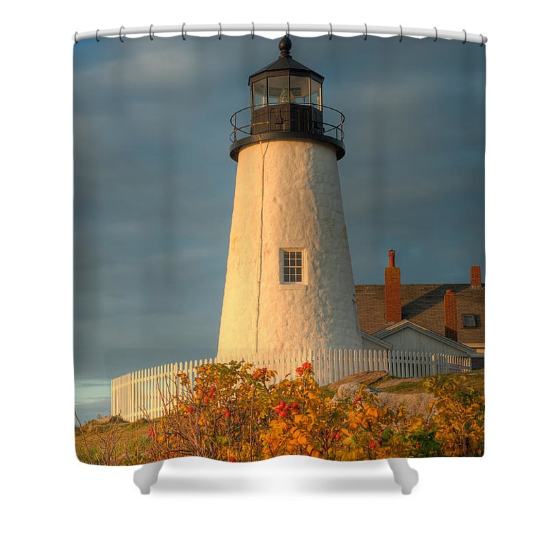 Clarence Holmes Shower Curtain featuring the photograph Pemaquid Point Light IIi by Clarence Holmes