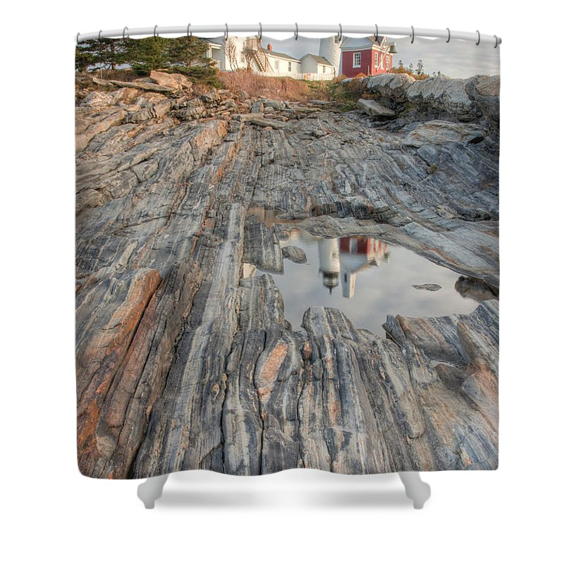 Clarence Holmes Shower Curtain featuring the photograph Pemaquid Point Light IV by Clarence Holmes