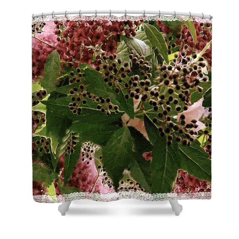 Christmas Shower Curtain featuring the painting Penny Postcard Christmas by RC DeWinter