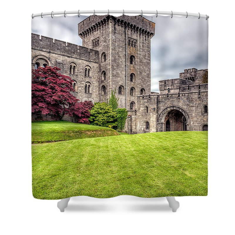 Arch Shower Curtain featuring the photograph Castle Grounds by Adrian Evans