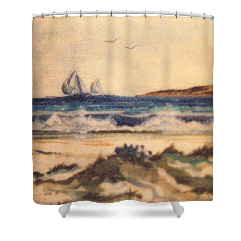 Landscape Shower Curtain featuring the painting Pensacola by Keith Spence