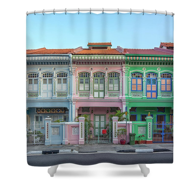 Tranquility Shower Curtain featuring the photograph Peranakan Architecture by Edward Tian
