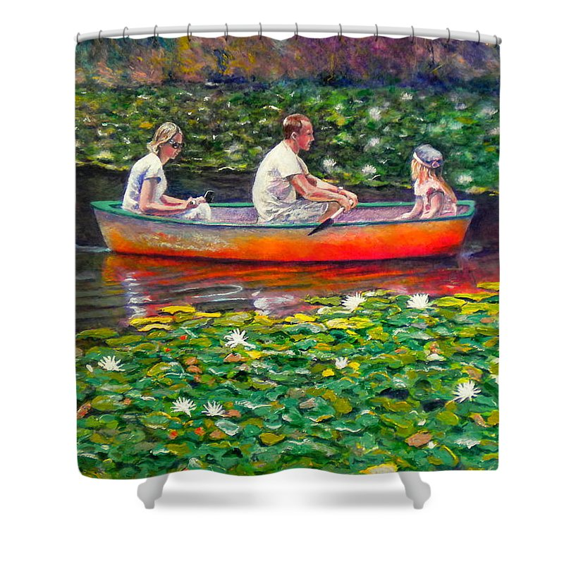 Water Lily Shower Curtain featuring the painting Perfect Afternoon by Michael Durst