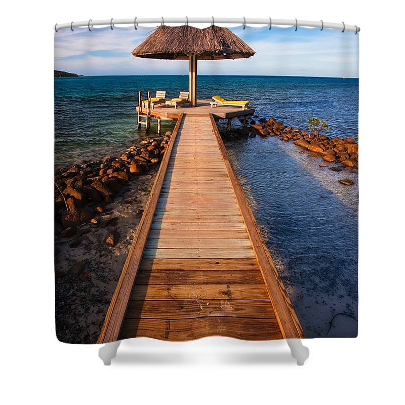 3scape Shower Curtain featuring the photograph Perfect Vacation by Adam Romanowicz