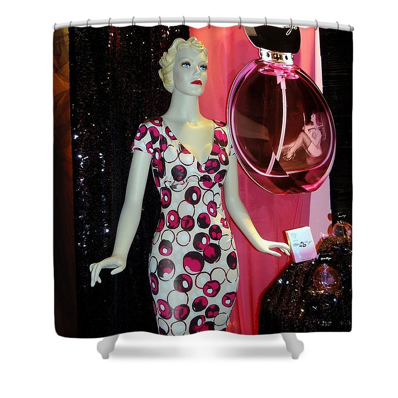 Mannequins Shower Curtain featuring the photograph Perfume Girl by Ed Weidman