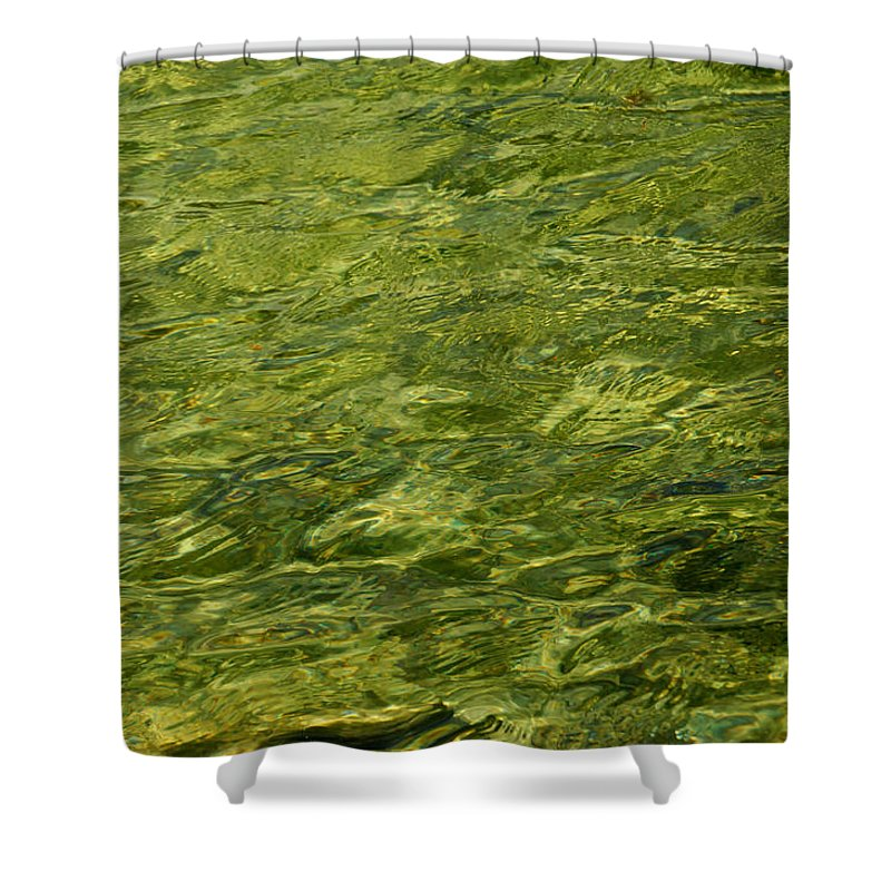 Water Shower Curtain featuring the photograph Peridot by Donna Blackhall