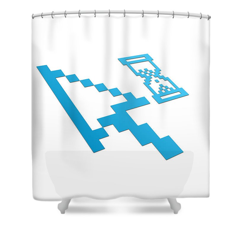 Perspective Shower Curtain featuring the drawing Perspective Computer Cursor by Aged Pixel