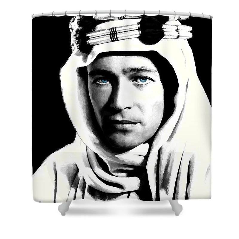 Peter O'toole Shower Curtain featuring the digital art Peter O'toole Portrait by Gabriel T Toro
