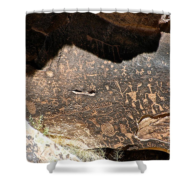 Outdoors Shower Curtain featuring the photograph Petroglyphs by Susan Herber