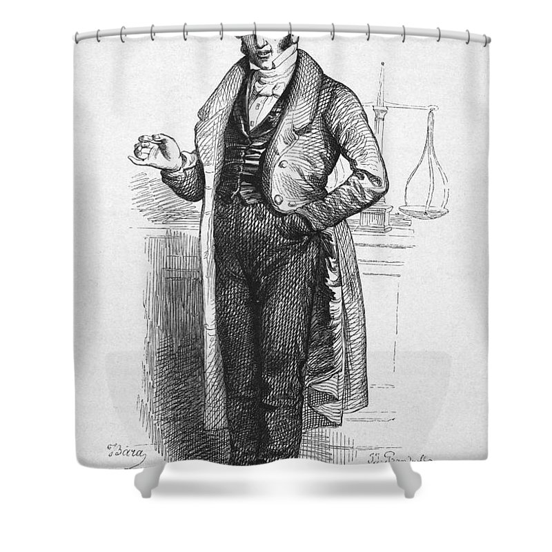19th Century Shower Curtain featuring the photograph Pharmacist, 19th Century by Granger