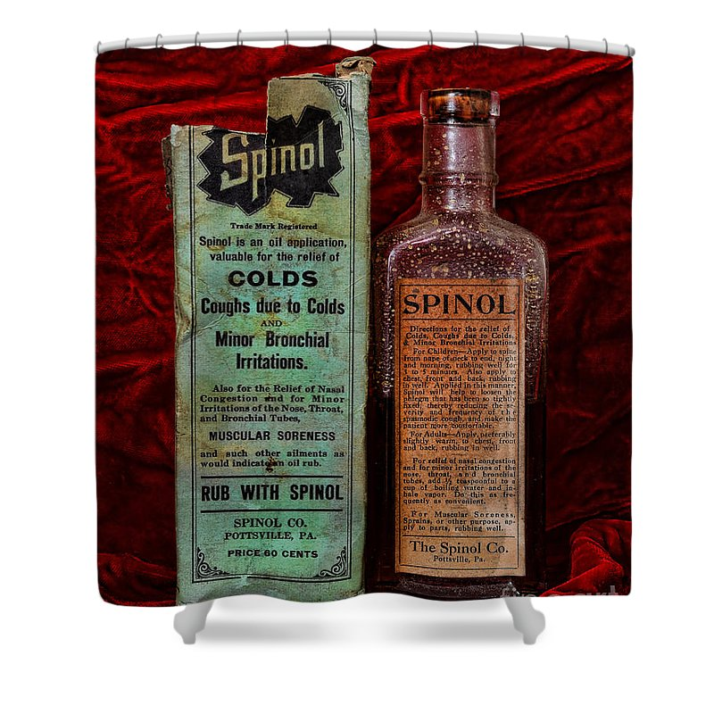 Paul Ward Shower Curtain featuring the photograph Pharmacy - Cold Remedy by Paul Ward