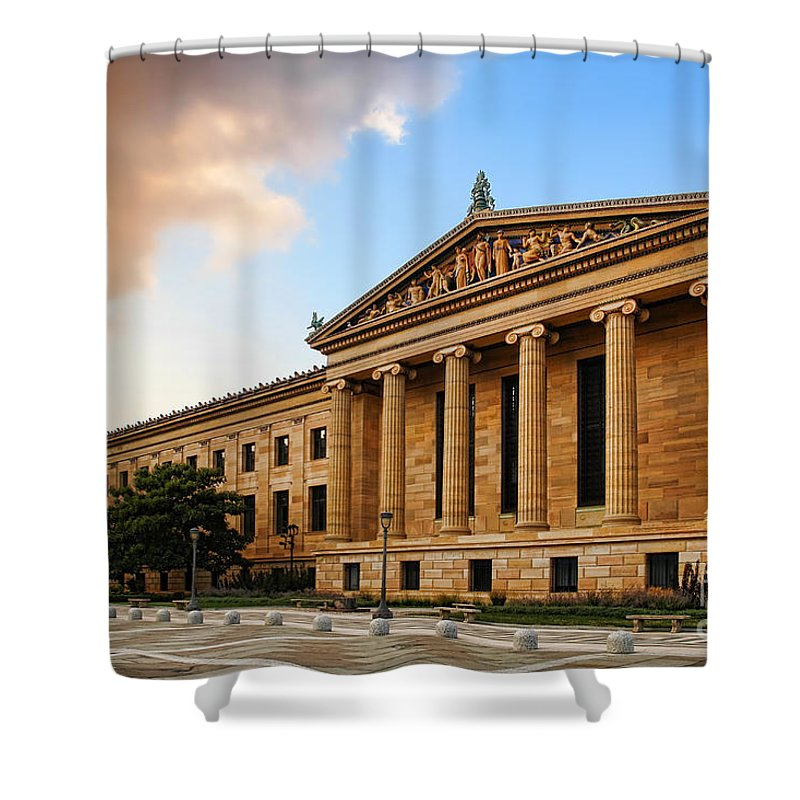 Philadelphia Shower Curtain featuring the photograph Philadelphia Museum Of Art by Olivier Le Queinec