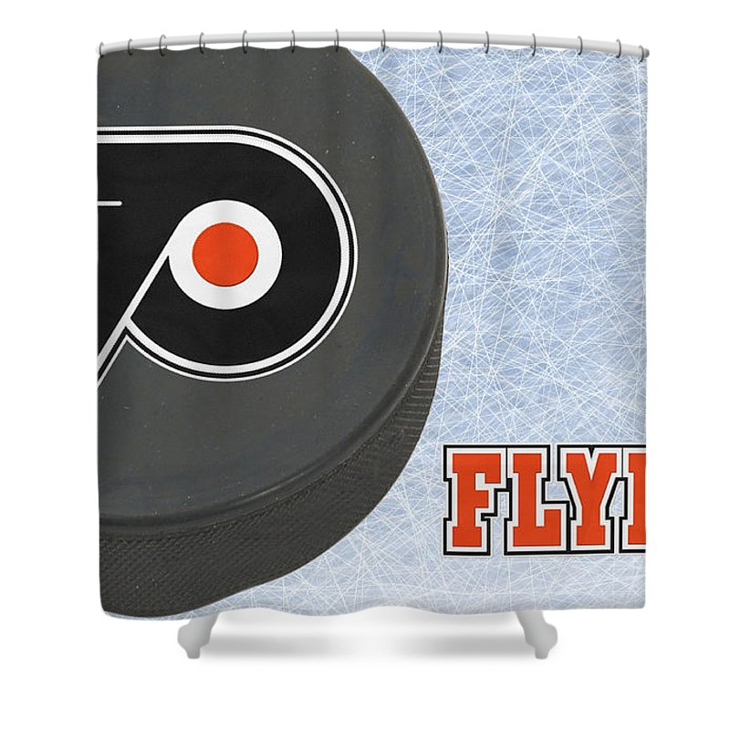 Flyers Shower Curtain featuring the photograph Philadephia Flyers by Joe Hamilton
