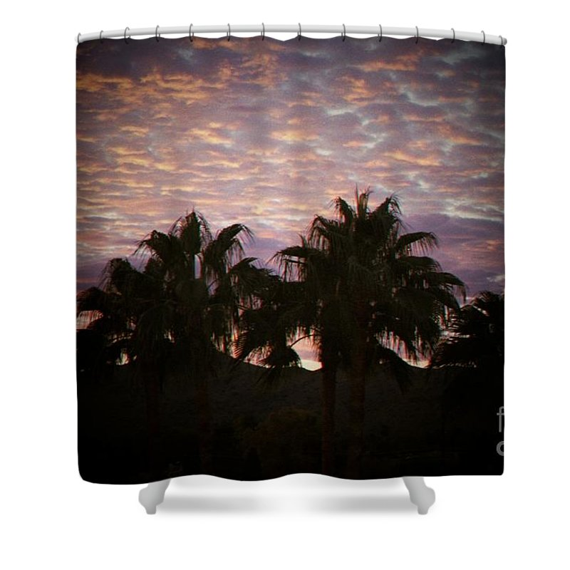 Sunset Shower Curtain featuring the photograph Phoenix Sunset by Brandi Maher