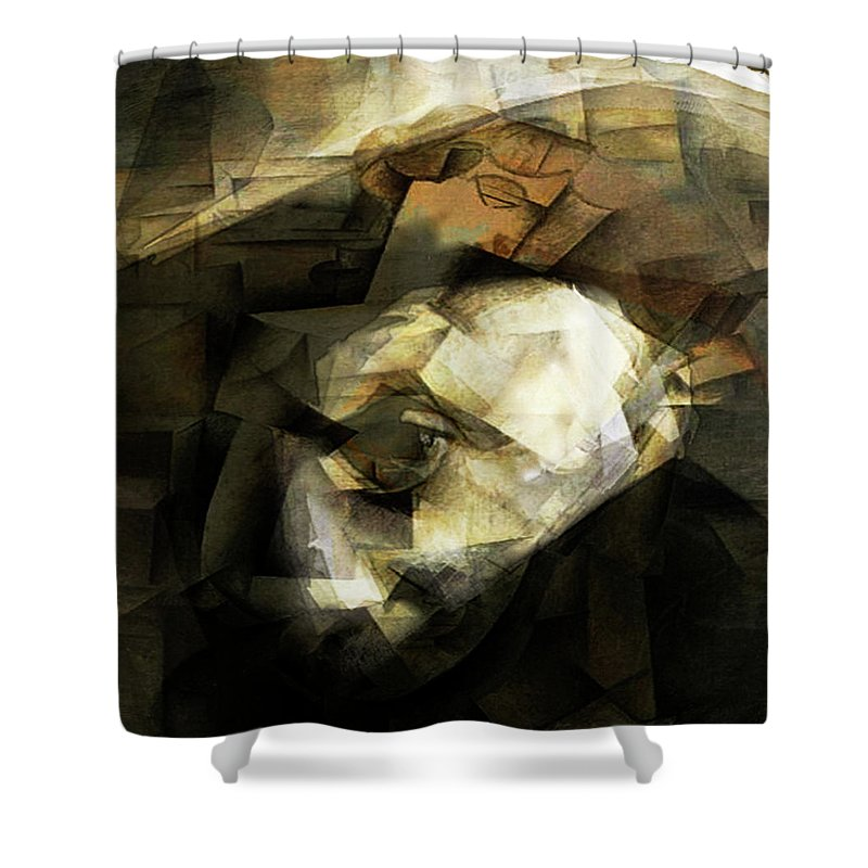 Pablo Picasso Shower Curtain featuring the digital art Picasso by Fli Art