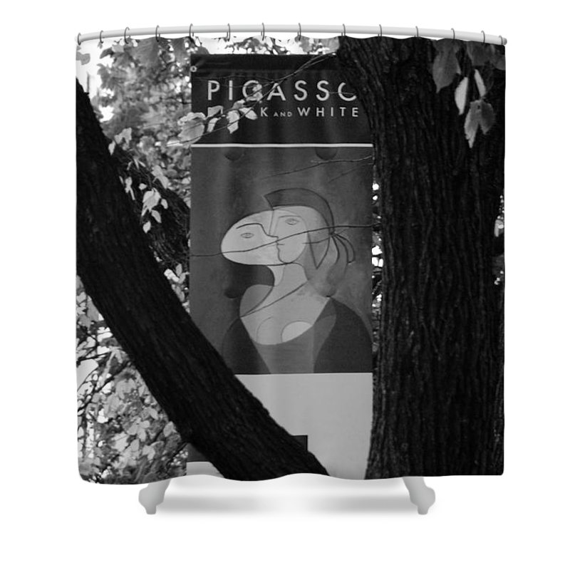 Scenic Shower Curtain featuring the photograph Picasso In Black And White by Rob Hans