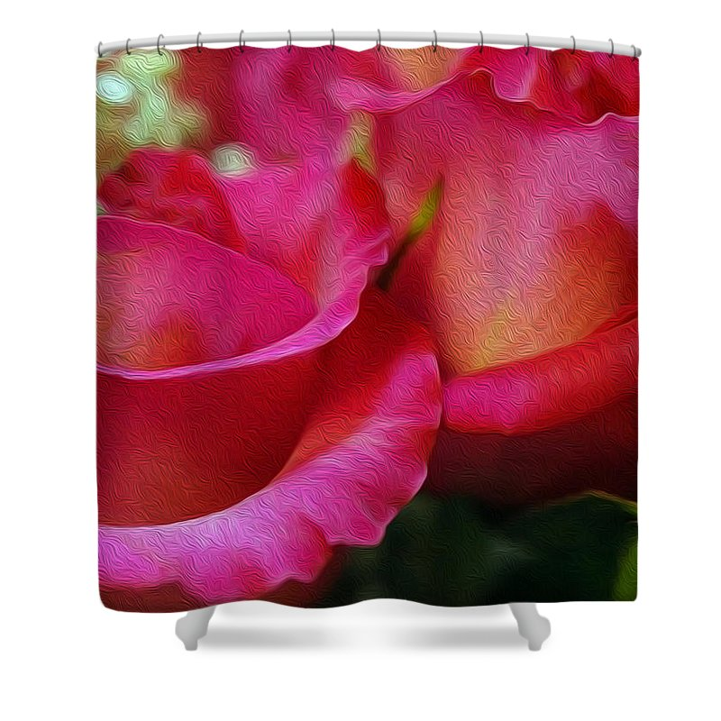 Roses Shower Curtain featuring the digital art Picture Perfect by Teri Schuster