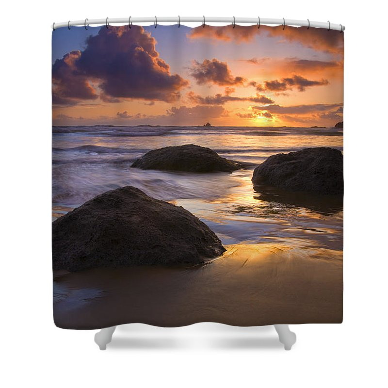 Sunset Shower Curtain featuring the photograph Pieces Of Eight by Mike Dawson