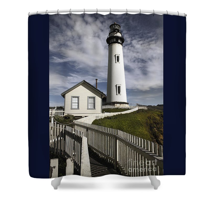 California Shower Curtain featuring the photograph Pigeon Point Lighthouse II by Jennifer Ramirez