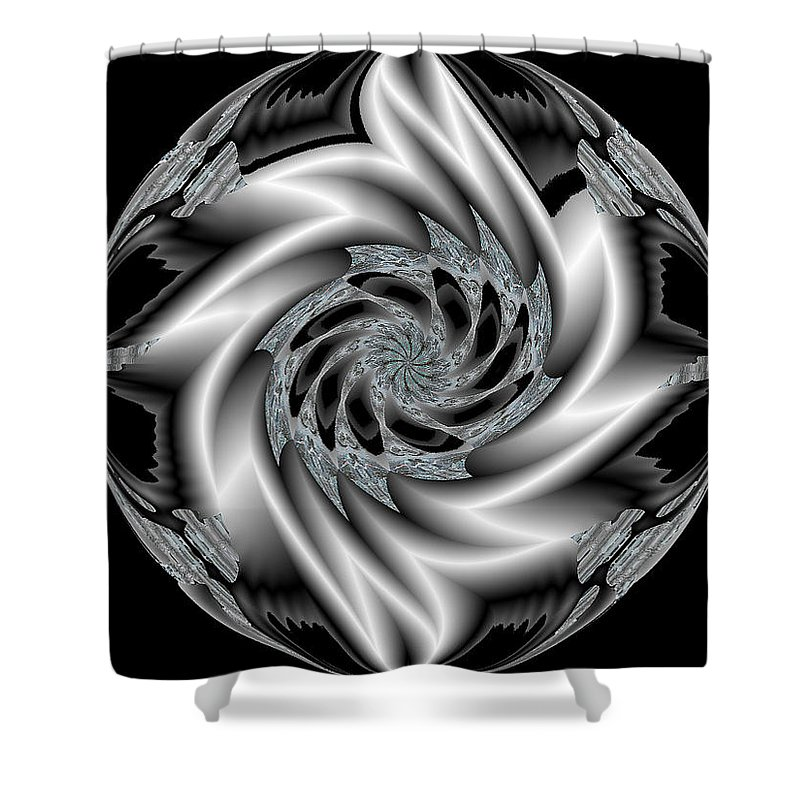Pin Shower Curtain featuring the digital art Pin Ball Wizard by Michael Damiani