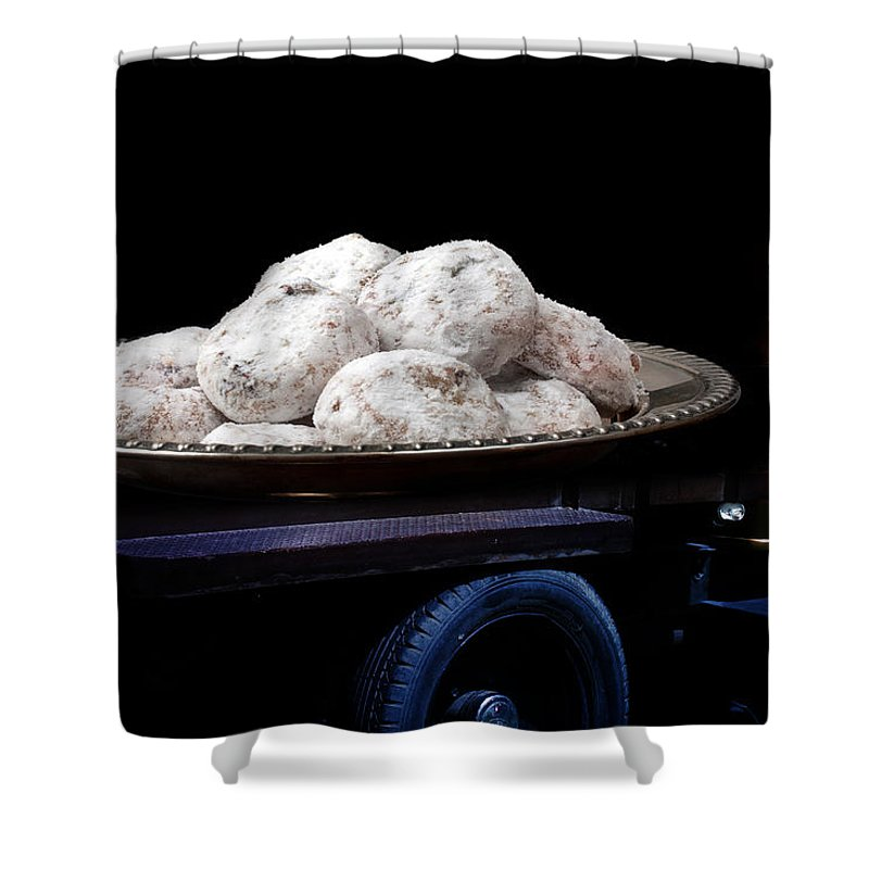 Truck Shower Curtain featuring the photograph Pin Up Cars - #5 by Gunter Nezhoda
