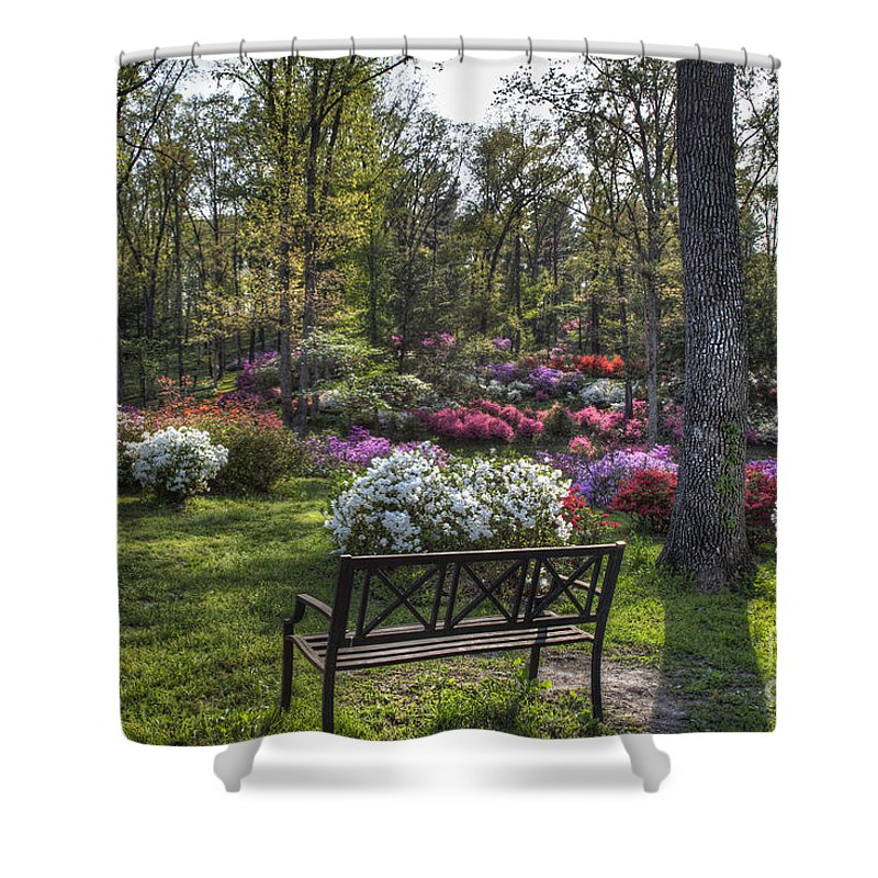 2012 Shower Curtain featuring the photograph Pinecrest Gardens by Larry Braun